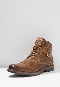 Bugatti - Lace-up ankle boots - cognac - 2