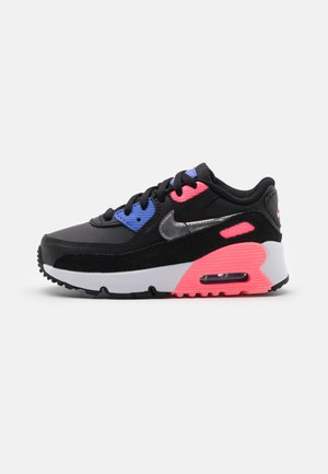 AIR MAX 90 UNISEX - Trainers - black/metallic silver/sunset pulse