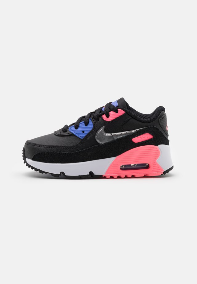 AIR MAX 90 UNISEX - Sneakers laag - black/metallic silver/sunset pulse