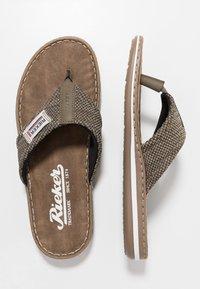 Rieker - T-bar sandals - brasil/fango - 1