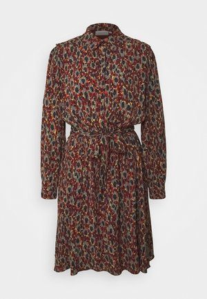 COUNTRY DRESS - Shirt dress - rust/bordeaux