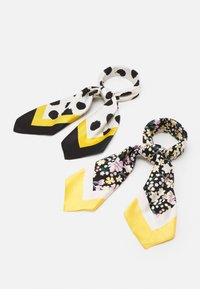 Even&Odd - 2 PACK - Scarf - black/mustard yellow - 0
