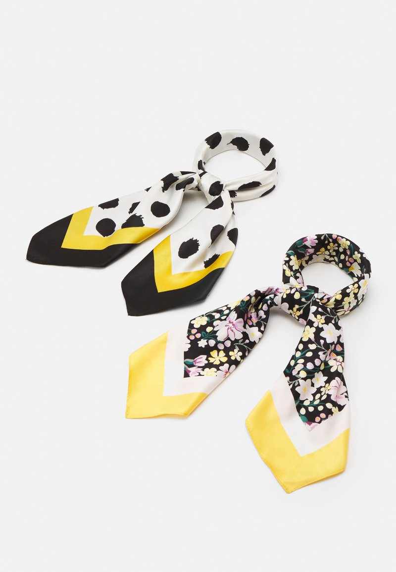 Even&Odd - 2 PACK - Scarf - black/mustard yellow