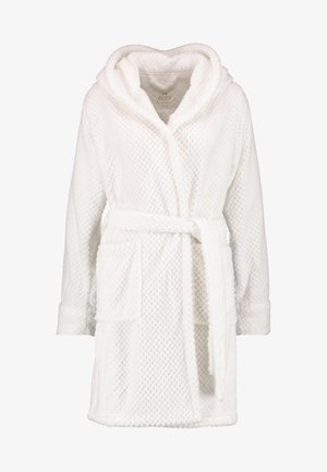 HOODED LUXE PLUSH GOWN - Dressing gown - white