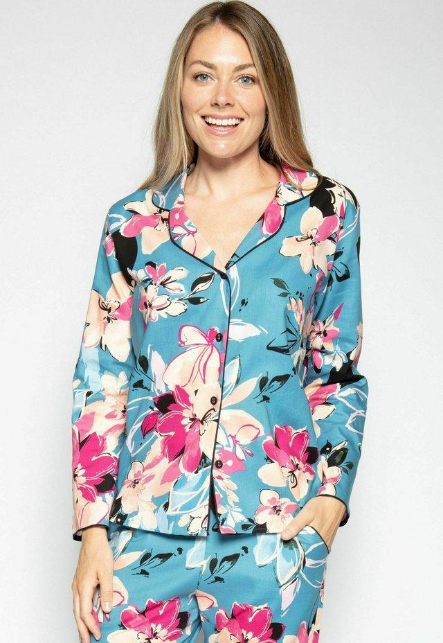Pyjamashirt - turq floral