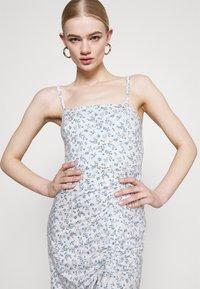 Hollister Co. - MIDI DRESS - Shift dress - white - 3