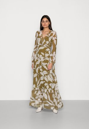 FLOWER DRES - Maxi dress - olive