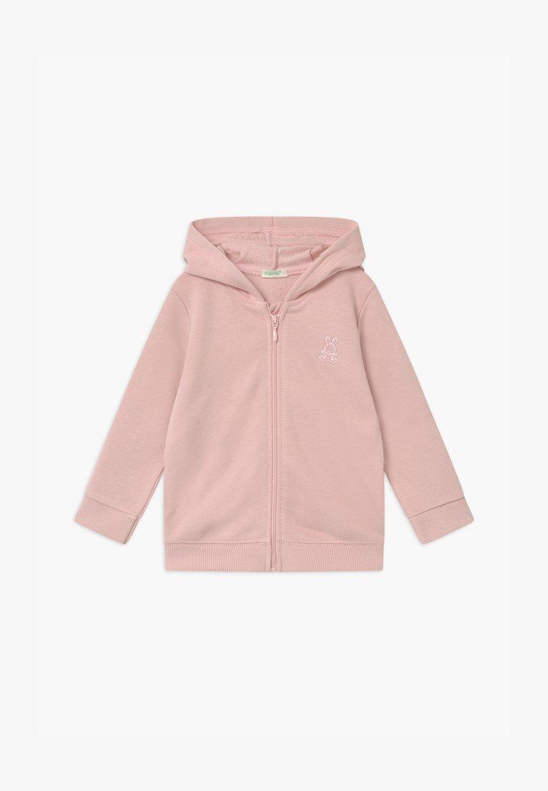 Benetton - HOOD - Mikina na zip - pink