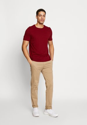 3PACK - Basic T-shirt - red/black/white
