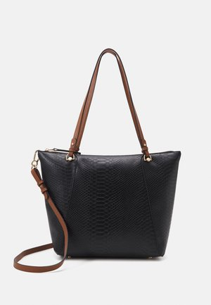 SHOPPER BAG SNAKIE SET - Kabelka - black