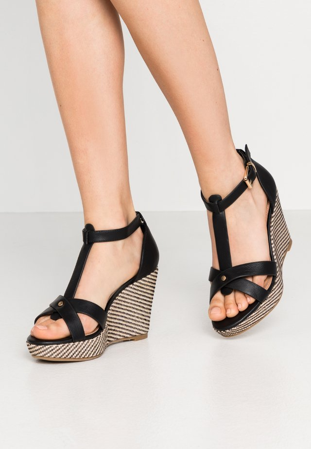 WHIMSEY - High heeled sandals - black