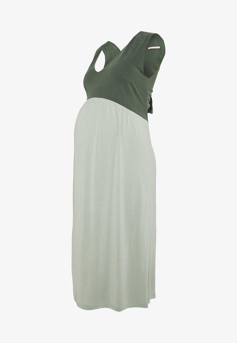 Paula Janz Maternity - DRESS TOUCH - Žerzejové šaty - misty jade