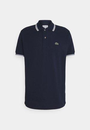 Polo shirt - navy blue/white