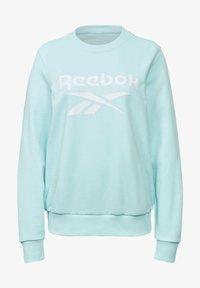Reebok - FRENCH TERRY BIG LOGO SWEATSHIRT - Sweatshirt - blue - 5