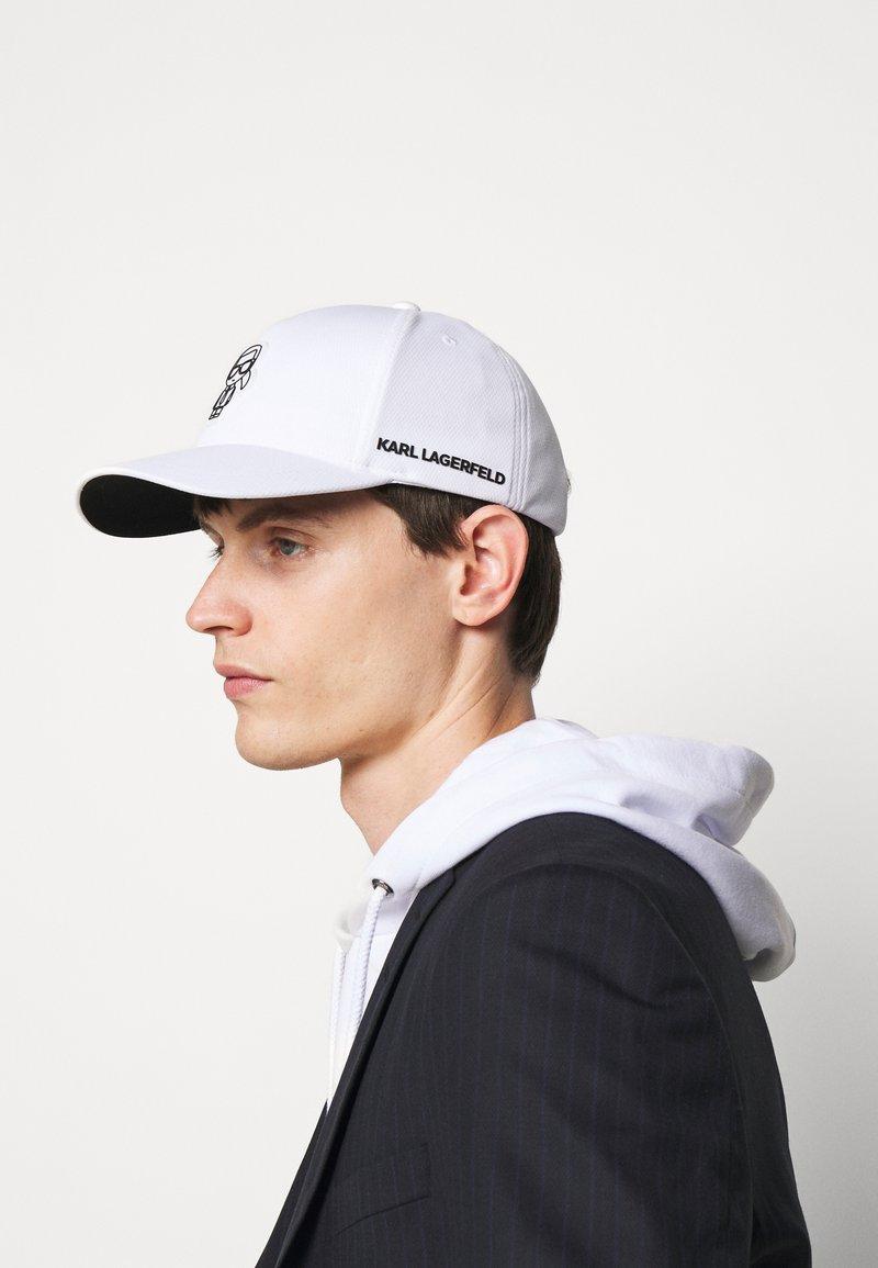 KARL LAGERFELD - Czapka z daszkiem - white