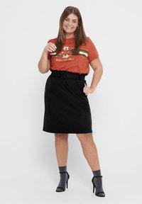 ONLY Carmakoma - CURVY  - A-line skirt - black - 1