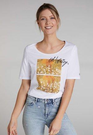 MIT FOTODRUCK - Print T-shirt - bright white