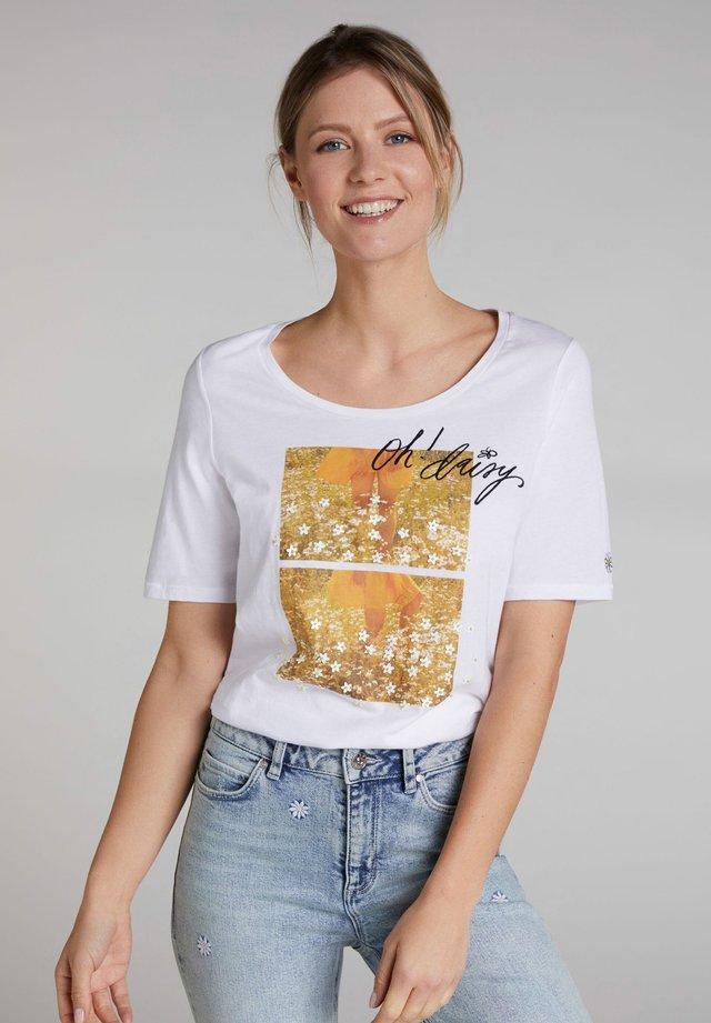 MIT FOTODRUCK - T-shirt imprimé - bright white