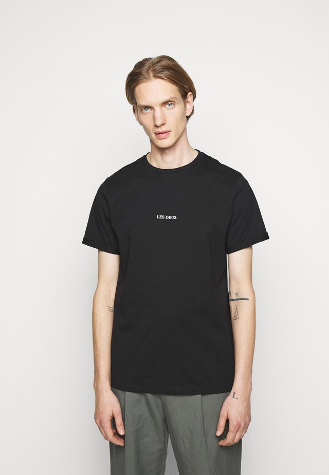 LENS - T-shirt con stampa - black/white