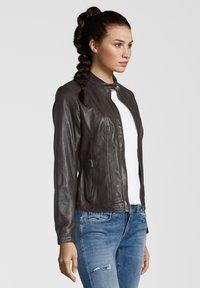 7eleven - URSULA - Leather jacket - chocolate - 2