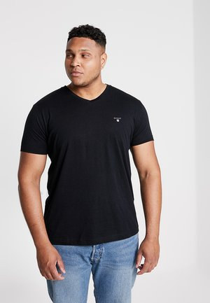 THE ORIGINAL SLIM V NECK  - Triko s potiskem - black