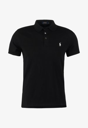 SLIM FIT MODEL - Koszulka polo - black
