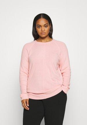 CASH LIKE RIB SLEEVE JUMPER - Stickad tröja - pink