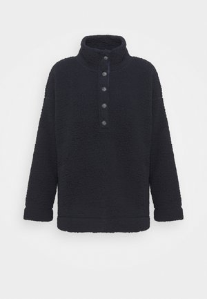 QUARTER BUTTON - Fleece trui - night sea