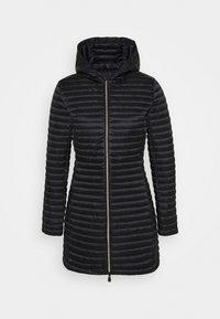 Save the duck - IRIS ALBERTA LONG HOODED COAT - Winter coat - black - 5