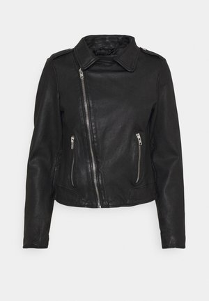 VMBUSTER SHORT JACKET - Leather jacket - black