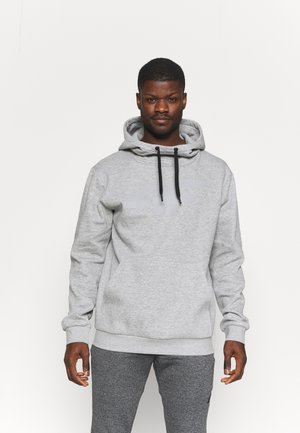 Hoodie - cold light grey melange