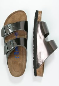Birkenstock - ARIZONA - Slippers - metallic anthracite - 3
