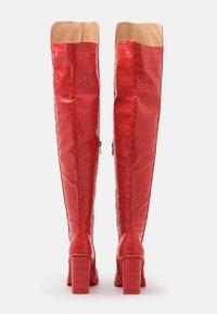 RAID - CYNTHIA - Kozačky na vysokém podpatku - red - 3