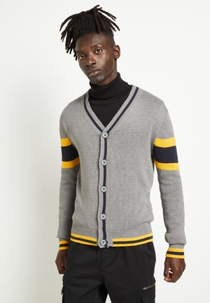 SULLIVAN - Gilet - silver grey/french navy/golden yellow
