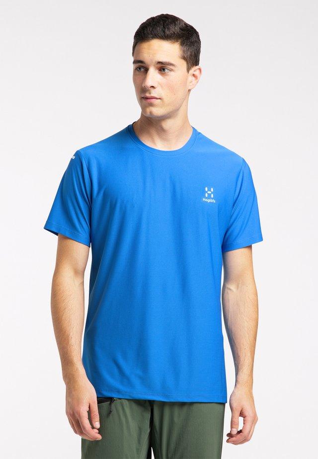 Print T-shirt - storm blue