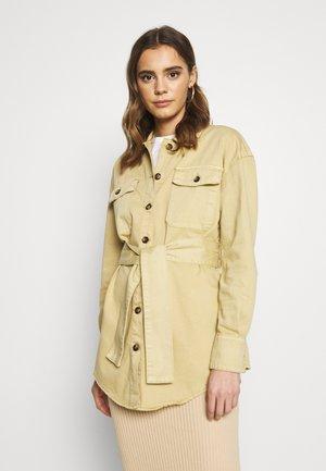 BELTED JACKET - Short coat - ochre