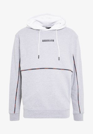UNISEX BRANDED PIPING HOODIE - Jersey con capucha - grey marl
