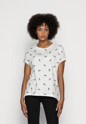 MANDALA FEATHER TEE - Print T-shirt - white