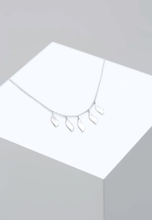 Necklace - silver-oloured