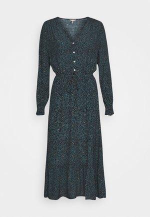 DRESS SMALL FLOWER PRINT - Maxi dress - teal