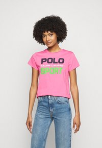Polo Ralph Lauren - T-shirt con stampa - pink - 0