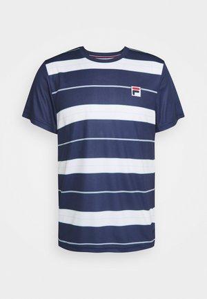 JULIAN - T-shirt med print - peacoat blue/white