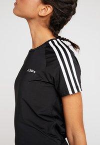 adidas Performance - 3S TEE - Camiseta estampada - black - 6