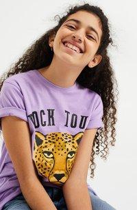 WE Fashion - Print T-shirt - purple - 1