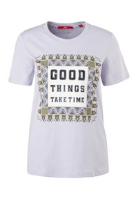 s.Oliver - MIT FOTOPRINT COLLAGE - T-shirt print - lilac good things print - 2