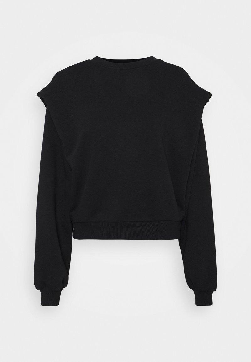 NA-KD - SHOULDER DETAIL  - Sweatshirt - black