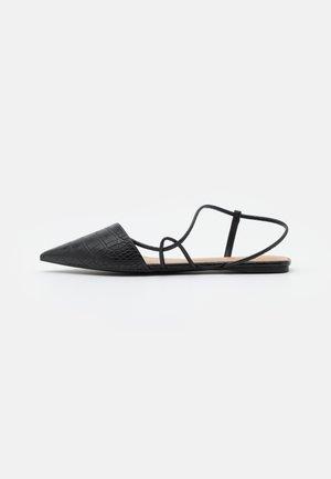 SELENA - Ankle strap ballet pumps - black