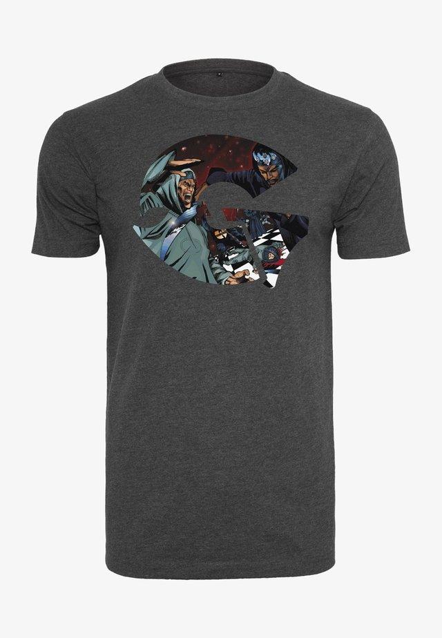 WU-WEAR GZA ART - T-shirt con stampa - charcoal