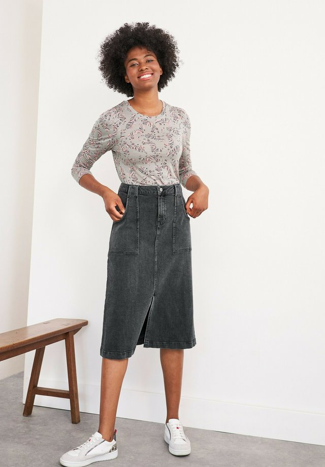 Denim skirt - schwarz denim
