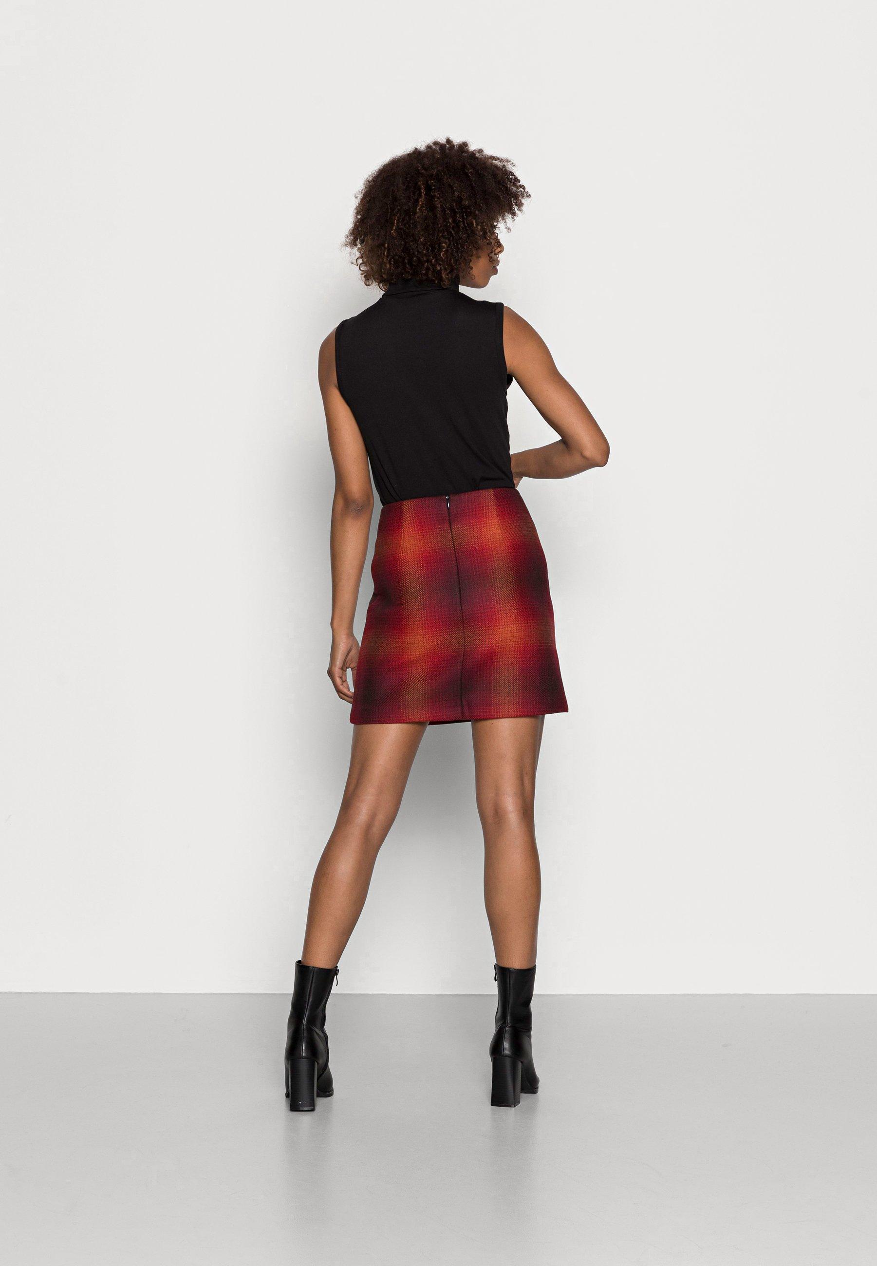 Femme SHADOW CHECK SKIRT - Minijupe